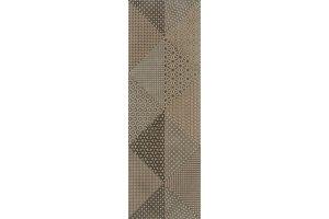 Настенная плитка Alcantara 514 LIGHT BROWN & BROWN DECOR 2 SERRA для ванной матовая светло-коричневая 90x30