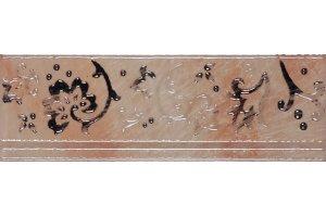 Настенная плитка Cadoro RAMAGE BORDER GOLD SERRA глазурованная золотой 30x10