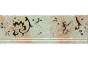 Настенная плитка Cadoro RAMAGE BORDER PEARL WHITE SERRA глазурованная белый 30x10
