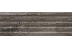 Настенная плитка Hill 529 ANTRACITE DECOR SERRA для ванной глазурованная серый 90x30