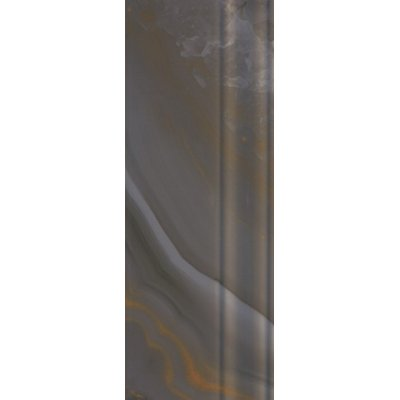 Настенная плитка Agatha SKIRTING & FINISHING Antracite SERRA глазурованная темно-серая 40x12