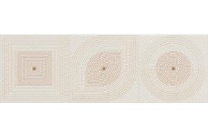 Настенная плитка Flavia 518 BEIGE GEOMETRIC DECOR SERRA для ванной глазурованная бежевый 90x30